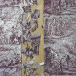 restauratie Franse antieke bouti, een met de hand doorgespitte deken