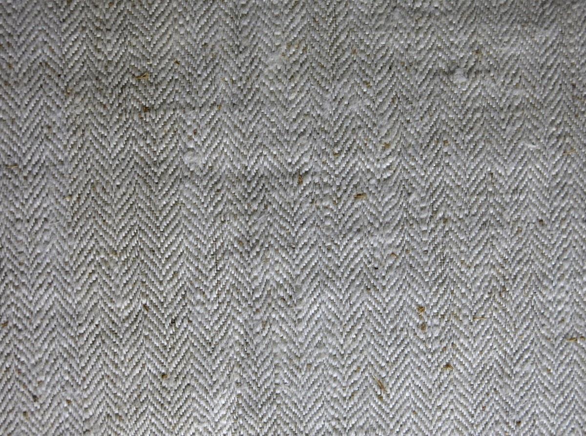 detail: keperbinding visgraat