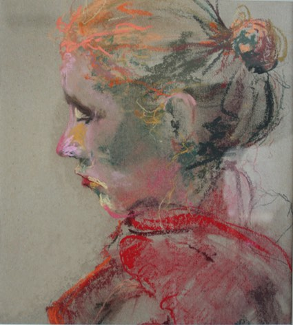 'Julia' 30x40cm pastel op papier. (sold)