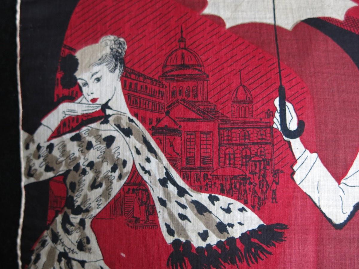 detail: fijn zijde/katoen zakboekje Parijs