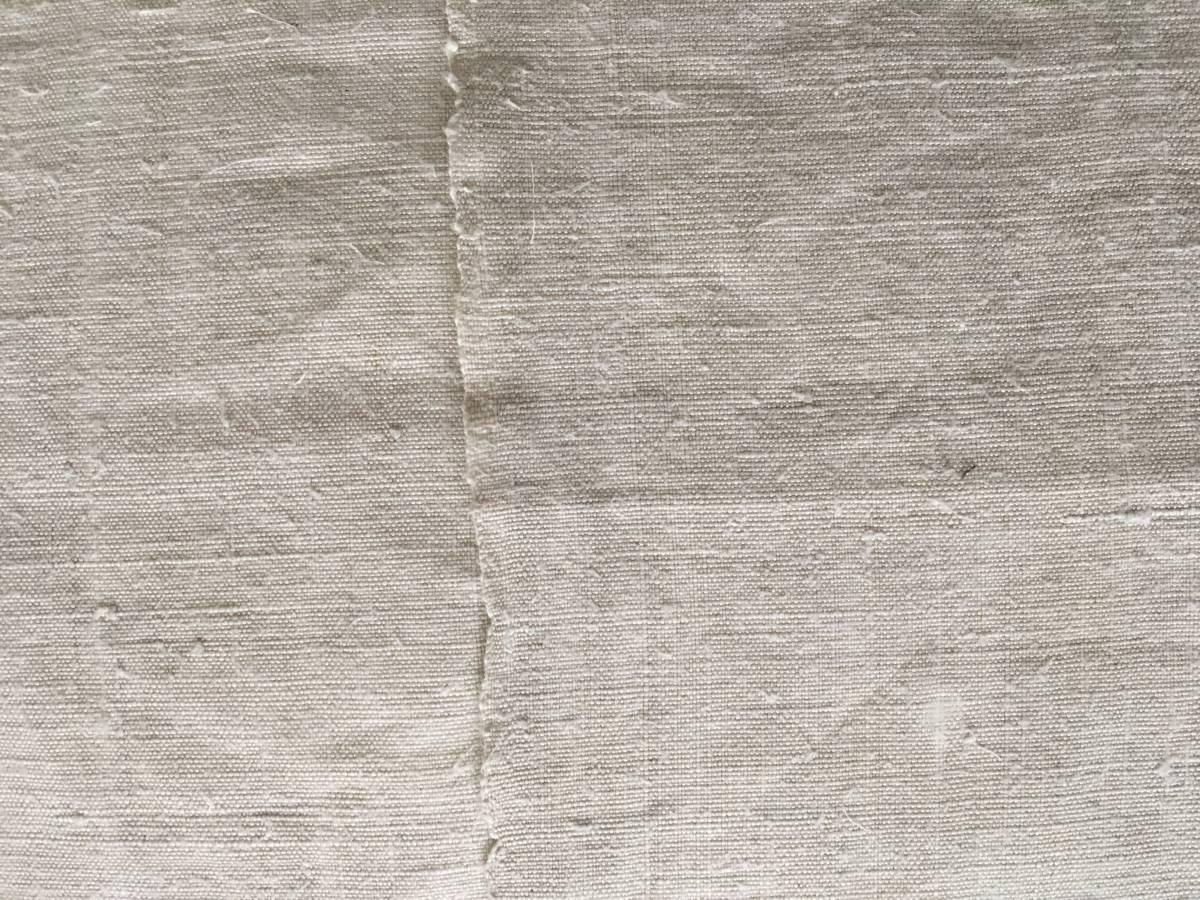 detail: overslag; zelfkant handgeweven linnen 19e eeuw