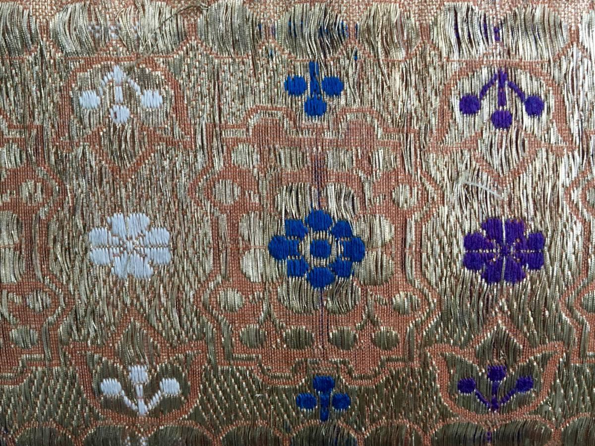 detail: vintage handgeweven zijden band meegenomen uit Delhi