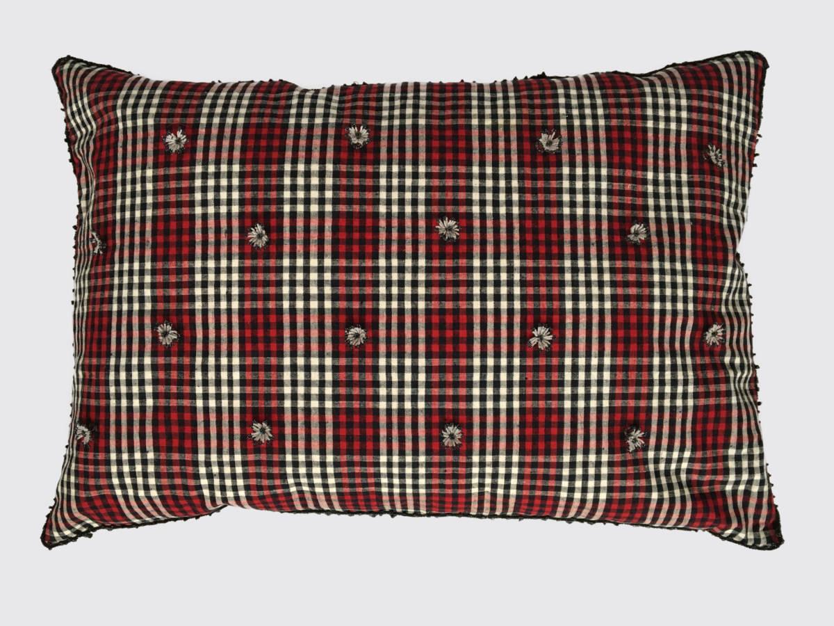 50x70cm voorzijde: geweven stof linnen/katoen ±1920