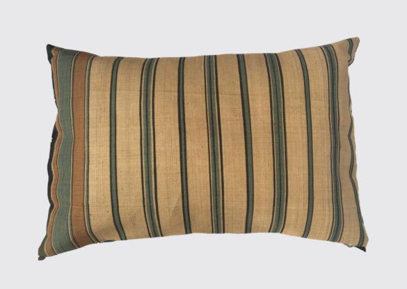 40x60cm; voorzijde: vlas/jute 19e eeuw; onregelmatig geweven op smal weefgetouw