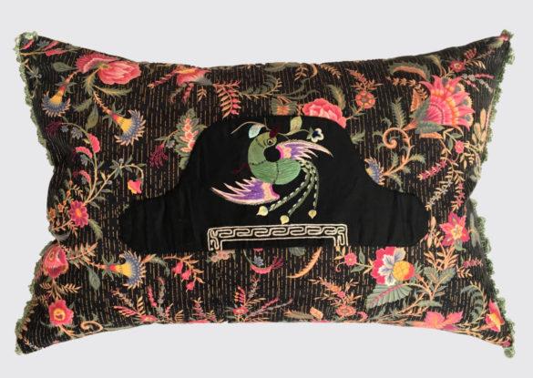 40x60cm voorzijde: Franse katoen ± 1870 met Chinees hoedje (sold)