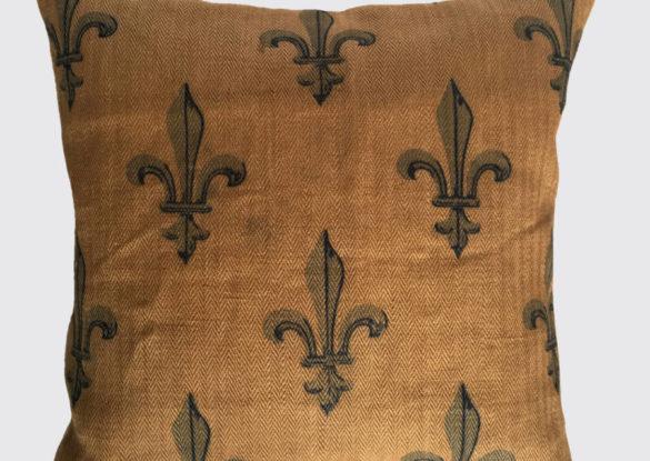 voorzijde: bedrukte Franse jute 19e eeuw